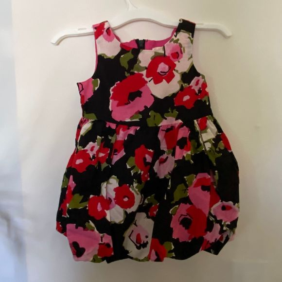 NEW NWT Childrens Place 12-18 month beautiful Maroon rose formal Floral dress